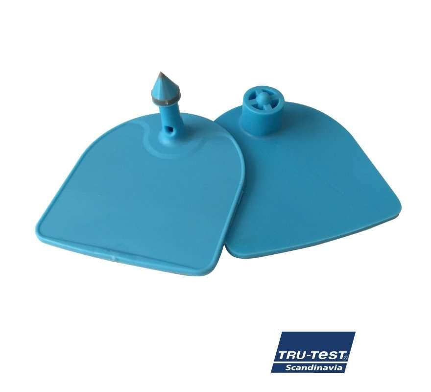 Medium U-mærke m. skarp spids/skærekant (blå)