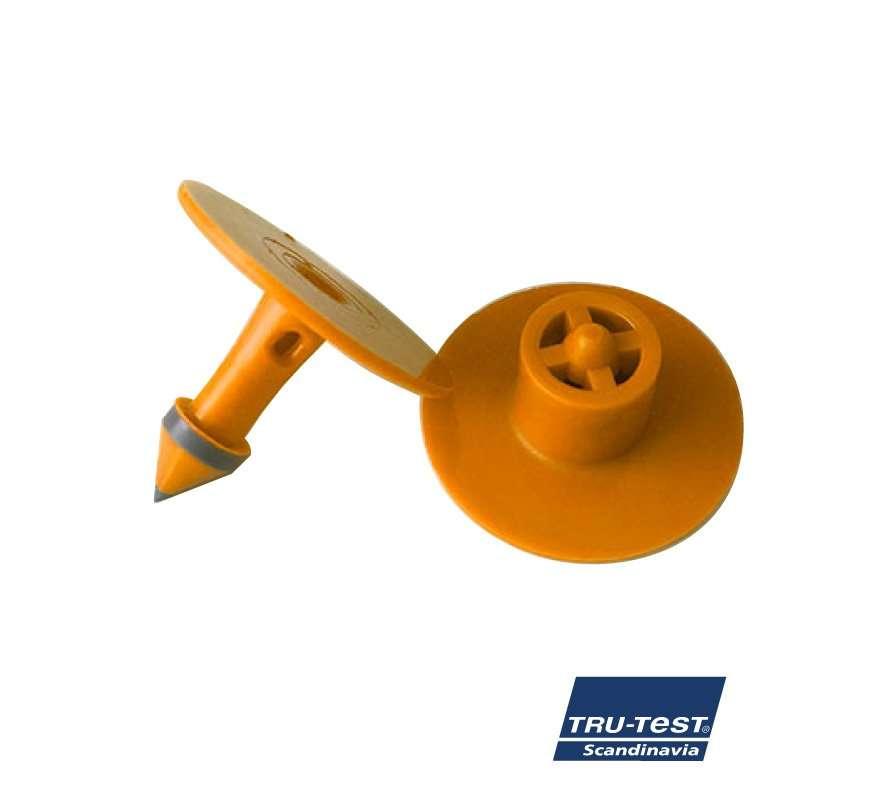 Livtstids øremærke m. skarp spids/skærekant (orange)
