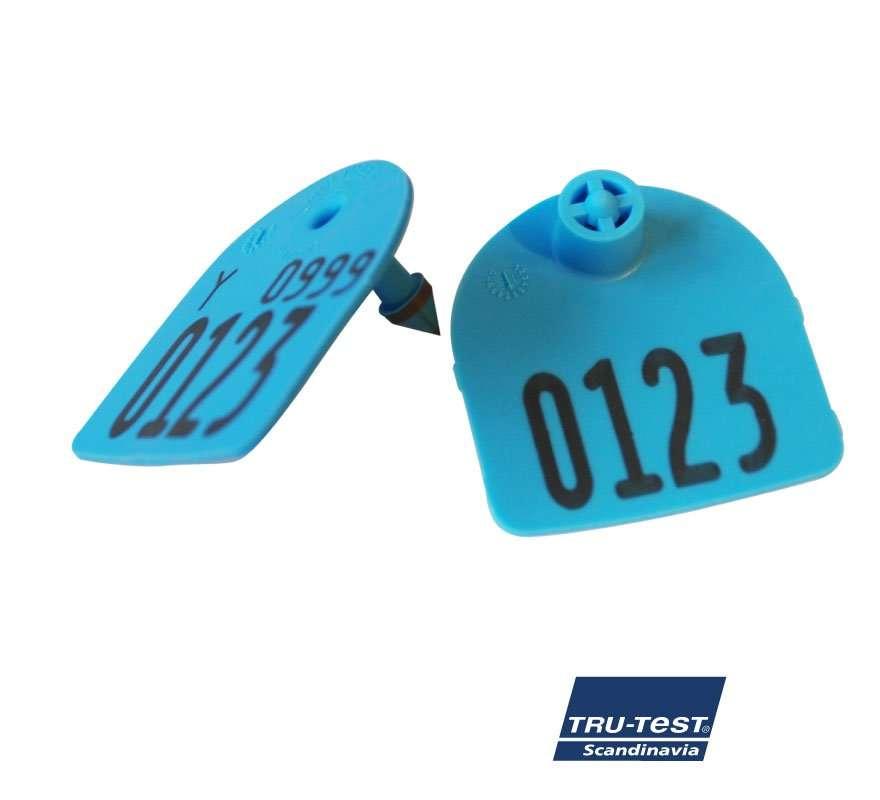 Medium U-mærke m. skarp spids/skærekant print (blå)