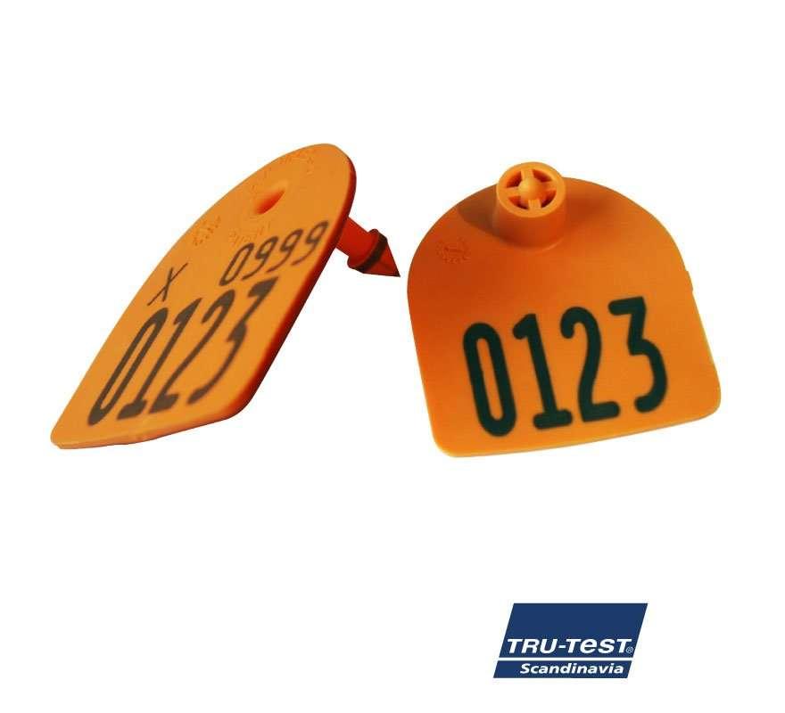 Medium U-mærke m. skarp spids/skærekant og print (orange)